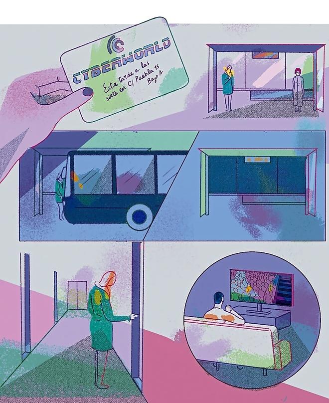 Viñetas de 'Pulse enter para continuar' de Ana Galvañ.