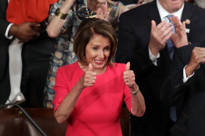 Nancy Pelosi, presidenta de la Cámara de Representantes de EEUU.