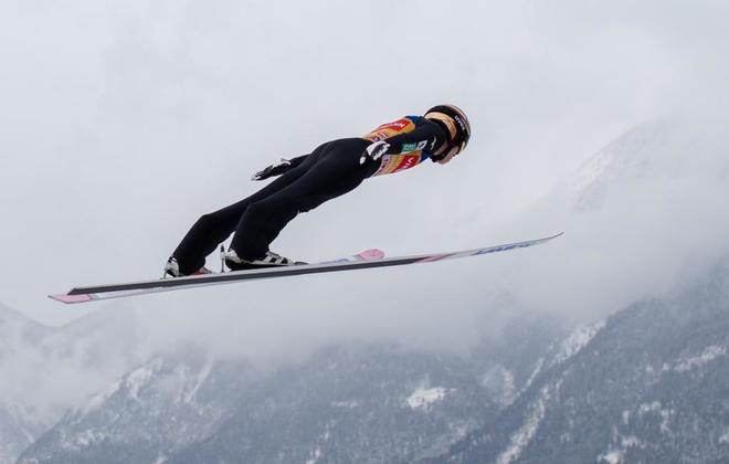 Kobayashi, durante la competición en Innsbruck.