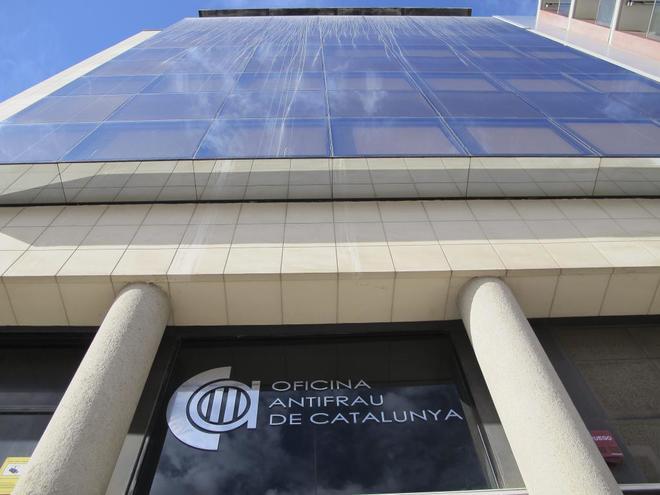 Fachada principal de la sede de la Oficina Antifrau de Catalunya (OAC) en una imagen de archivo
