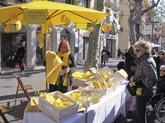Imagen de la parada de la ANC de Vilanova que vendían farolillos...