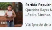 Tuit del Partido Popular en que se sugiere la muerte de Pedro Sánchez