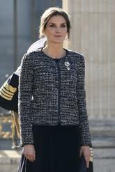 El broche que ha lucido la Reina Letizia en la solapa es de la Reina...
