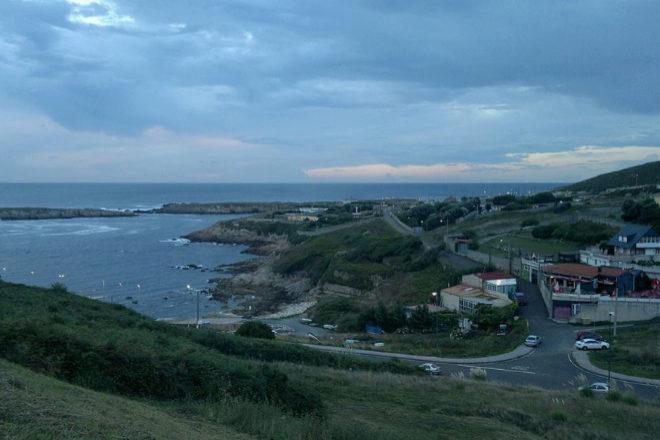 Vista de O Portiño, en la parroquia de Visma, La Coruña.