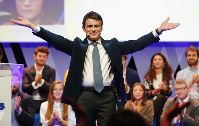 Manuel Valls, en un acto en el Palacio de Congresos de Catalunya.