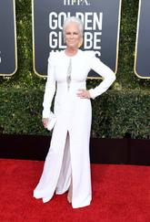 La actriz se propuso combinar su pelo con su vestido de...