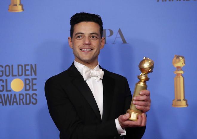 Rami Malek, con el premio a mejor acto por su interpretación de Freddie Mercury.