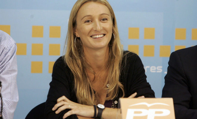 Andrea Fabra, hija de Carlos Fabra, en una comparecencia cuando era diputada del PP por Castellón.