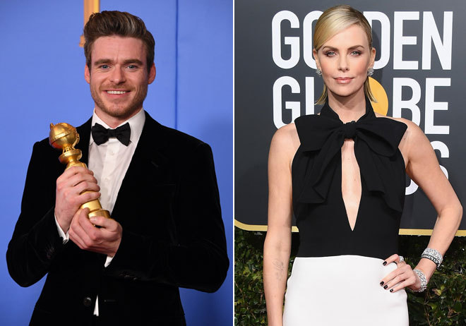 Richard Madden y Charlize Theron.