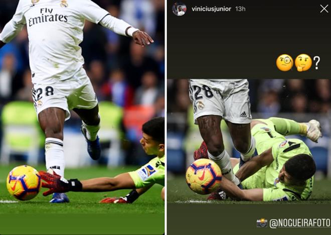 Imágenes que subieron a Instagram Rulli (izquierda) y Vinicius (derecha).
