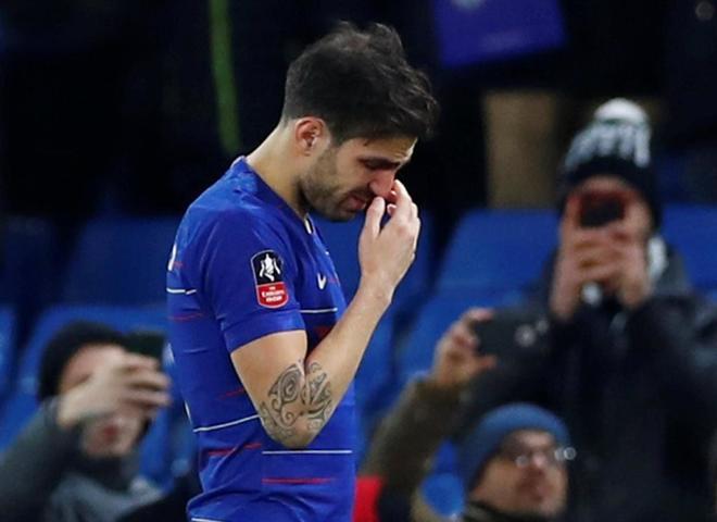 Cesc Fàbregas, en su último partido con el Chelsea.