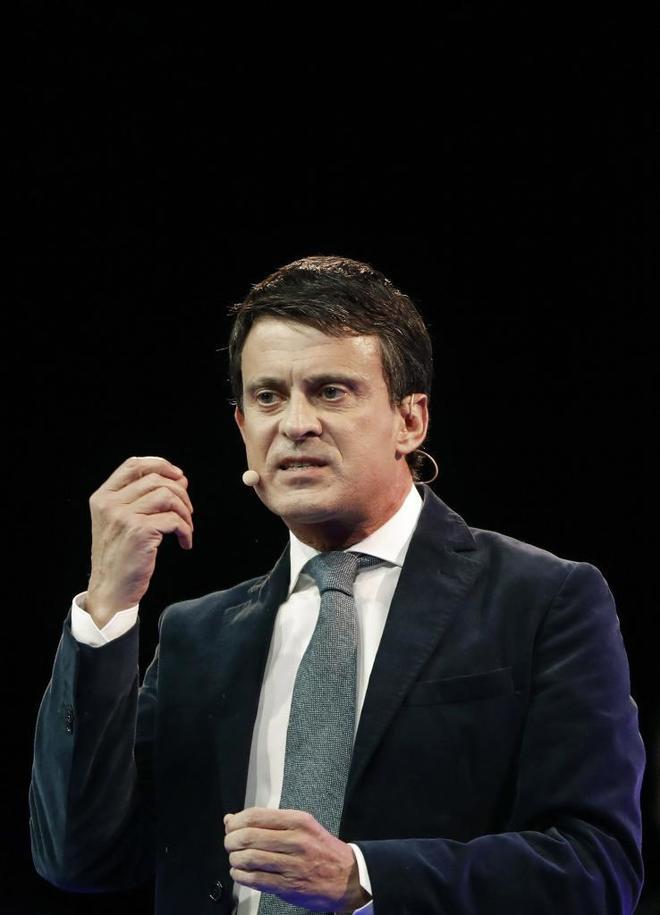 El candidato a la alcaldía de Barcelona y ex primer ministro francés, Manuel Valls