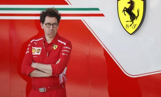 Mattia Binotto, el pasado abril, durante el GP de Bahrein.