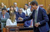 El líder de Ciudadanos en Andalucía, Juan Marín, vota en el...