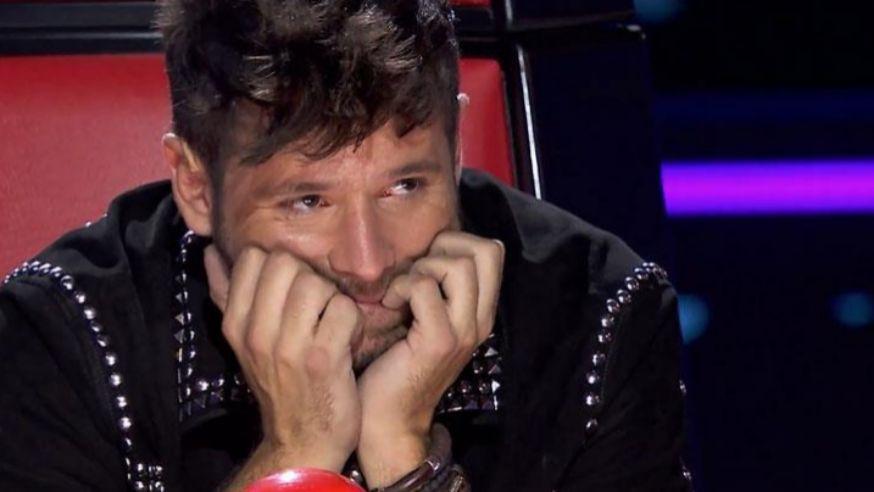 Pablo López en un momento del concurso La Voz de Antena 3
