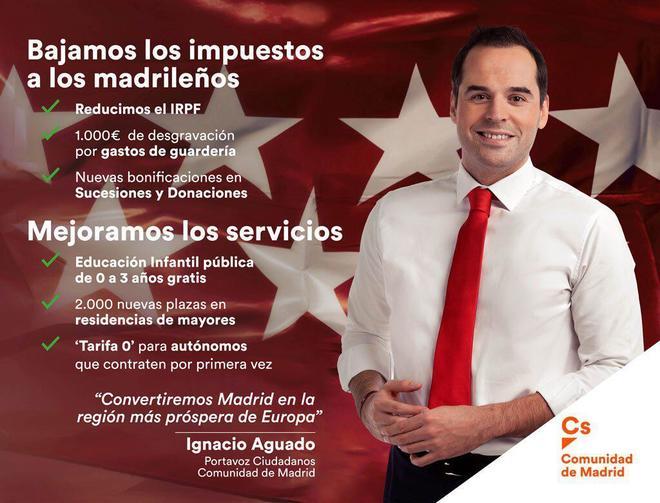 Campaña publicitaria de Ciudadanos en el Metro de Madrid.