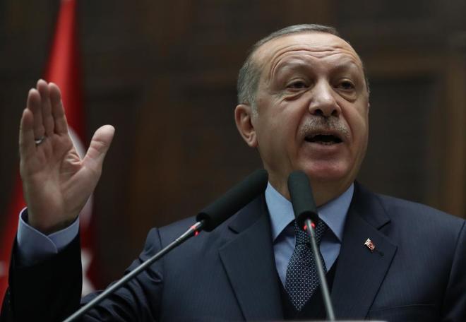 El presidente turco, Recep Tayyip Erdogan, en Ankara, este martes.