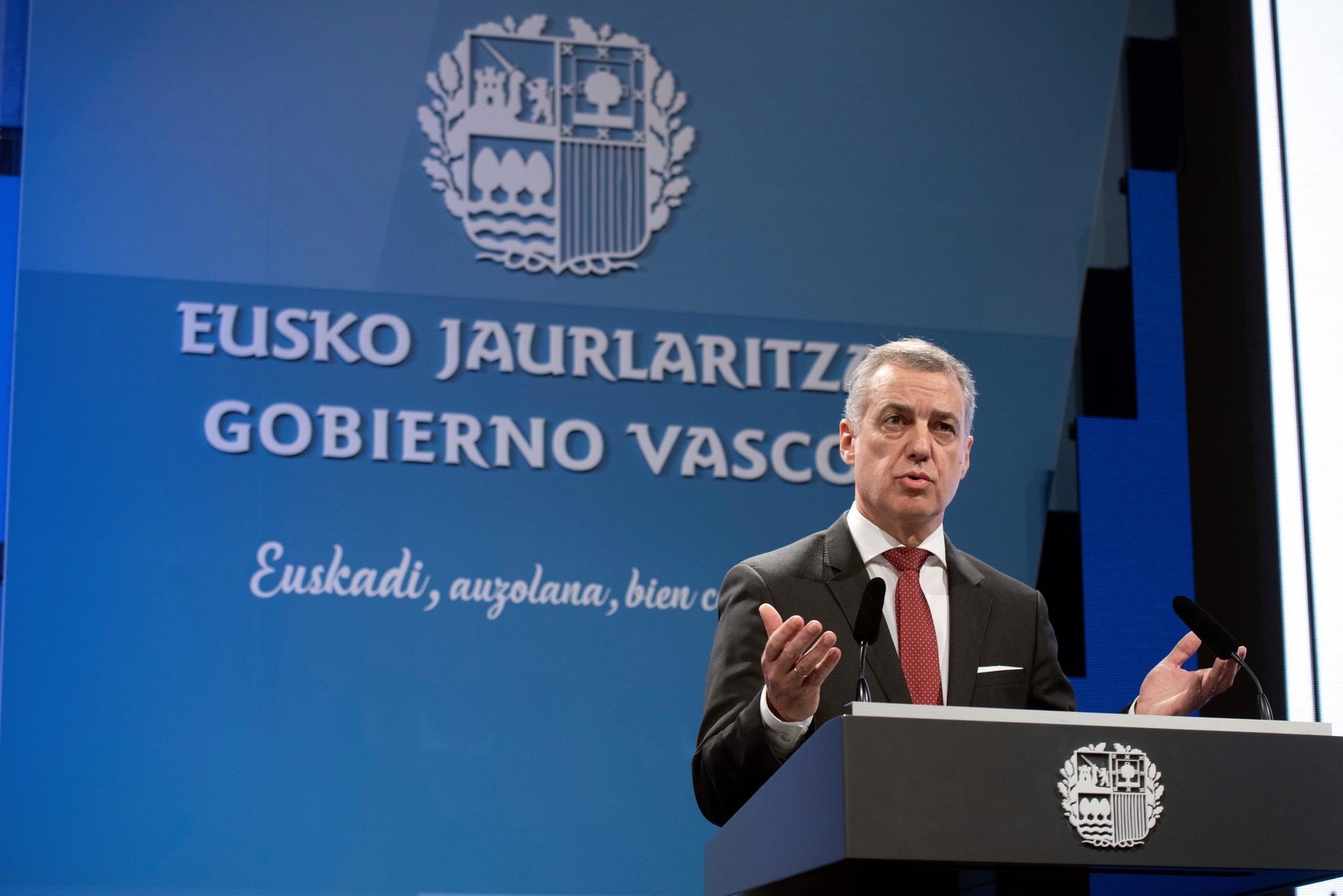 El lehendakari Urkullu en una intervención.