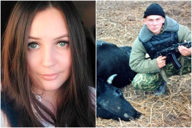 La víctima, Irina Akhmatova y su asesino, Vitaly Chikirev, en...