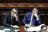El presidente del Gobierno italiano, giuseppe Conte, y el primer ministro, Luigi di Maio.