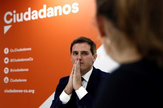 El líder de Ciudadanos, Albert Rivera, este martes en Madrid.