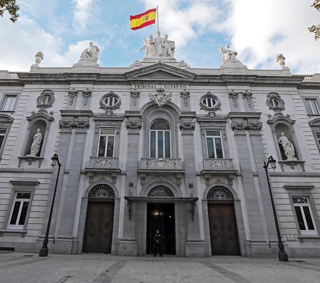 La fachada del Tribunal Supremo en Madrid.