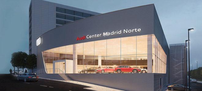 El nuevo Nuevo Audi Center Madrid Norte, situado en la avenida de Burgos 89