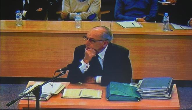 Rodrigo Rato, durante su declaración ante la Audiencia Nacional.