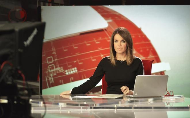 Carme Chaparro, actual presentadora de la edición de mediodía de...