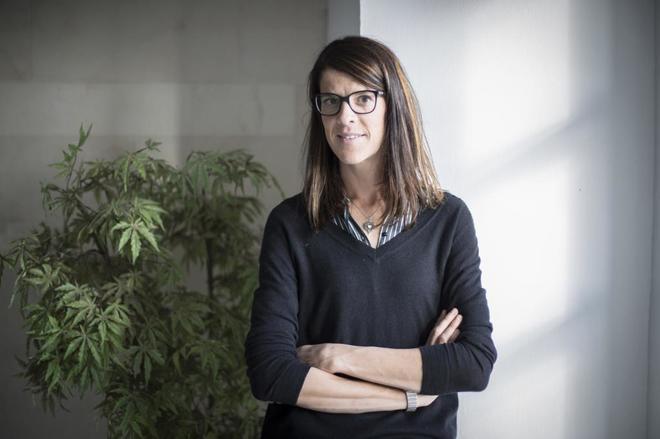 La atleta Ruth Beitia, en el Parlamento de Cantabria.