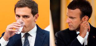 Albert Rivera y Enmanuel Macron.