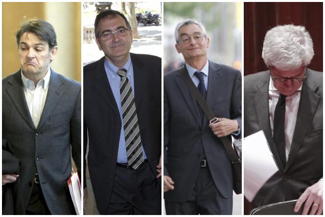 De izquierda a derecha, Oriol Pujol, Josep Tous, Isidre Masalles y Sergi Alsina.