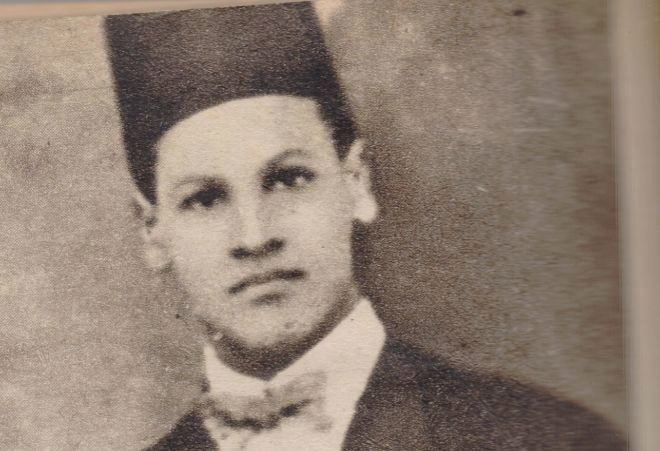 Naguib Mahfuz (1911- 2006) en un retrato de juventud.
