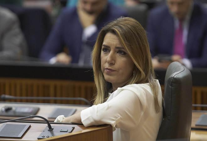 Susana Díaz, durante la constitución del Parlamento el pasado día 27 de diciembre.