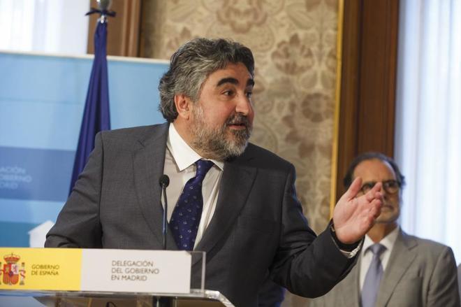 El delegado del Gobierno de Madrid en una comparecencia.