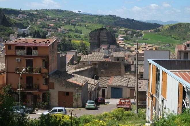 Vista de un barrio de Corleone, en Sicilia.