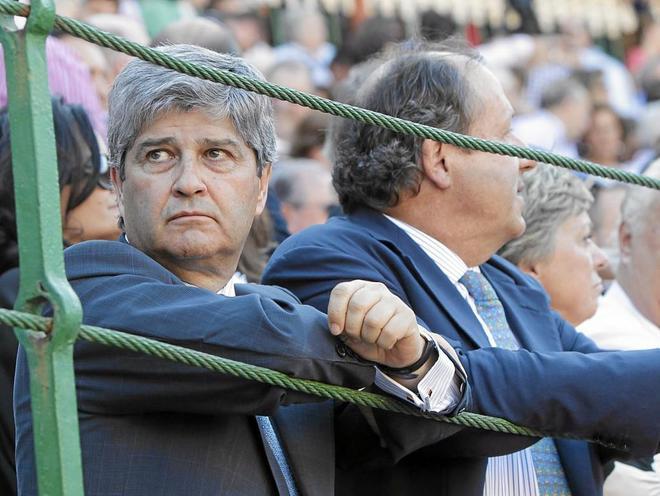 El constructor Fernando Martín, en los toros.