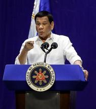 El presidente filipino, Rodrigo Duterte.