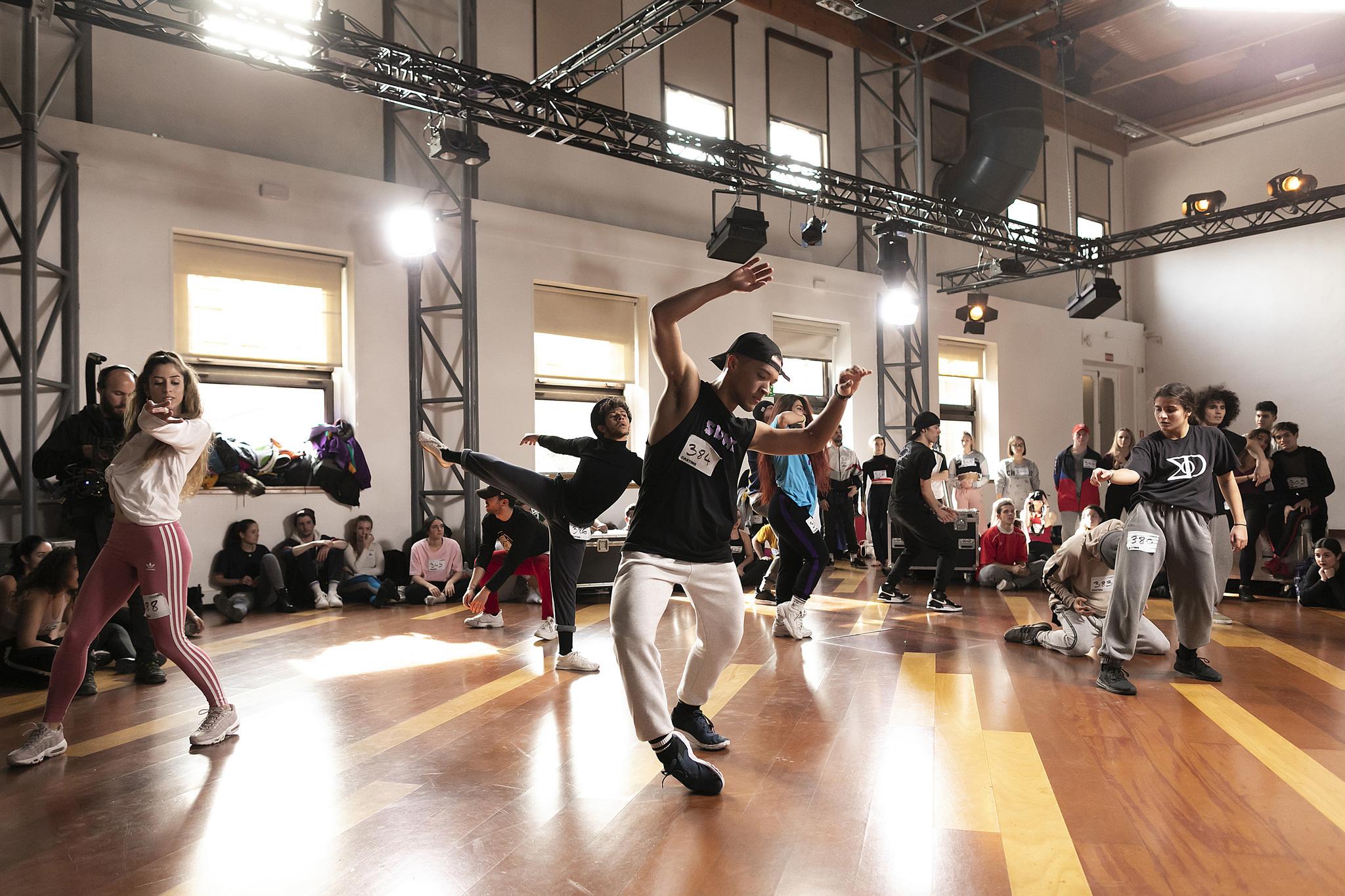 Imagen de uno de los castings del 'talent' Fama a bailar, emitido en...