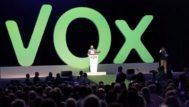 Santiago Abascal, en pleno mitin en el acto que Vox celebró en Madrid el pasado mes de octubre.