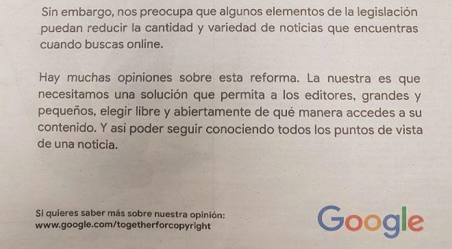 Campaña de Google en prensa.