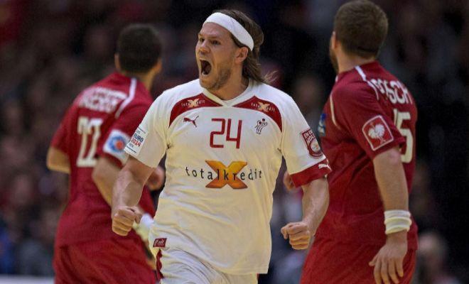 Mikkel Hansen, con la selección de Dinamarca, en una imagen de archivo.