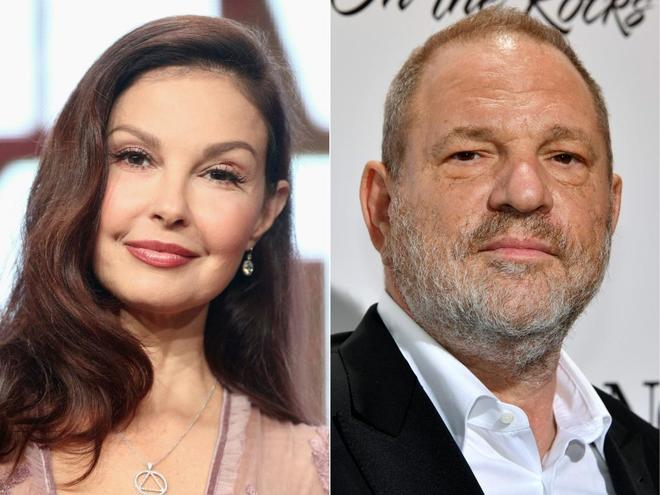 Ashley Judd y el productor Harvey Weinstein.