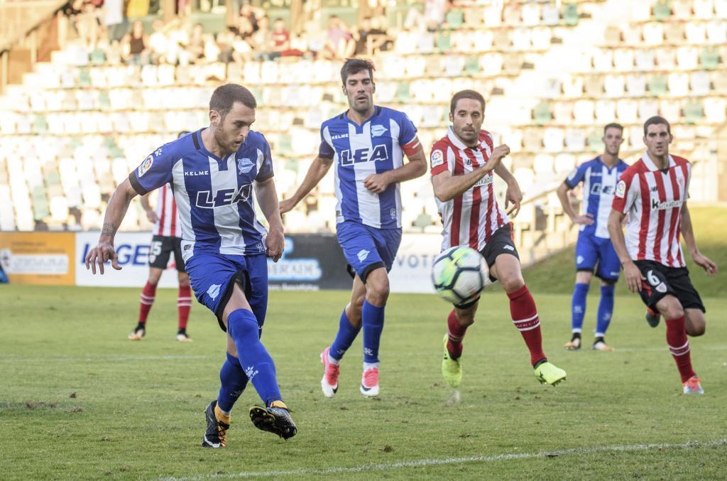 Ibai Gómez en un partido de la pasada tenmporada contra su nuevo club, el Ahletic