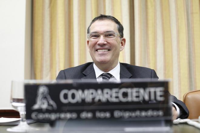 Jaume Alonso-Cuevillas, durante su comparecencia en el Congreso de los...