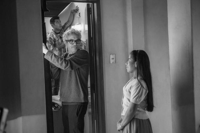 Momento del rodaje de 'Roma' de Alfonso Cuarón.