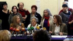 Presentación del manifiesto de las organizaciones feministas contra Vox.