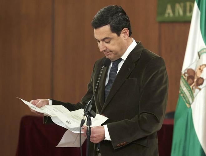 El candidato del PP a la presidencia de Andalucía, Juanma Moreno