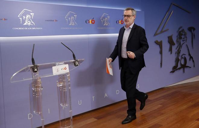 El secretario general de Ciudadanos, José Manuel Villegas, este...