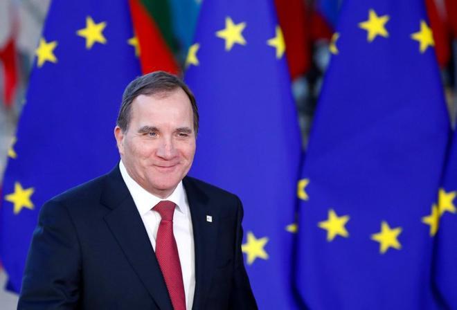 El primer ministro sueco, Stefan Löfven, a su llegada a una cumbre europea en Bruselas.